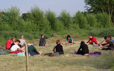 Yoga in de natuur